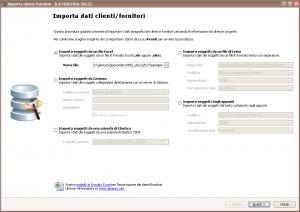 Importazione dati clienti/fornitori