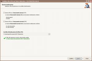 Pubblica files XML - Opzioni