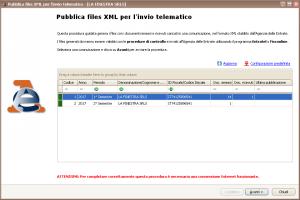 Pubblica files XML - Selezione comunicazione