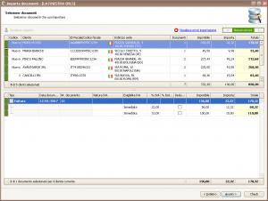 Importazione dati documenti